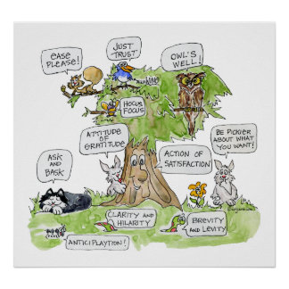 Animais dos desenhos animados que falam o poster d
