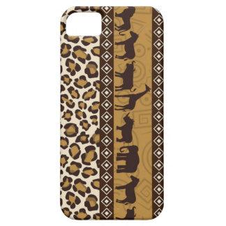 Animais e impressão africanos do leopardo capa barely there para iPhone 5