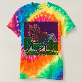 ANIMAIS espirais do CAVALO do t-shirt da Camiseta