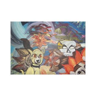 Animais estrangeiros impressão de canvas envolvidas