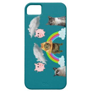 Animais na capa de telefone do céu