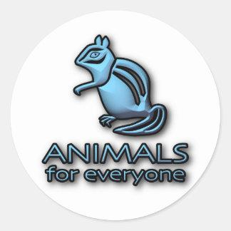 Animais para todos - etiqueta do logotipo