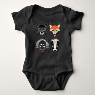 Animais selvagens - Bodysuit do jérsei do bebê T-shirts