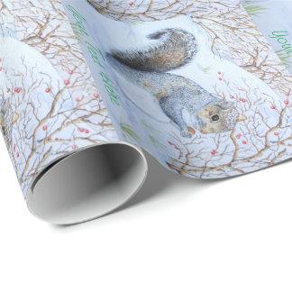 animais selvagens cinzentos bonitos do original da papel de presente