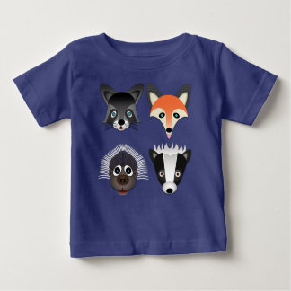 Animais selvagens - t-shirt fino do jérsei do bebê