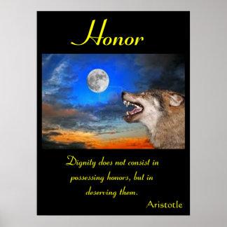 Animal 12 dos posters da honra