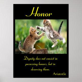 Animal 17 dos posters da honra