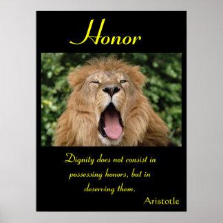 Animal 24 dos posters da honra