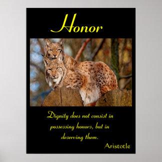 Animal 40 dos posters da honra