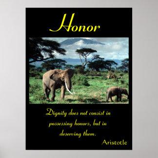 Animal 48 dos posters da honra