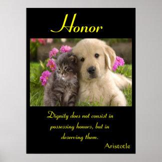 Animal 4 dos posters da honra