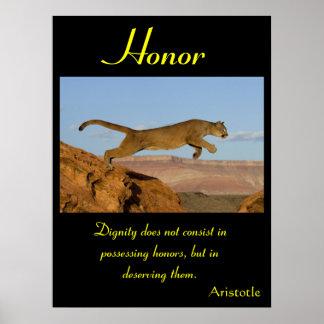 Animal 61 dos posters da honra