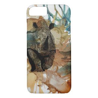 Animal africano mim capa de telefone, rinoceronte,