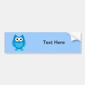 Animal bonito azul dos desenhos animados dos pássa adesivo para carro