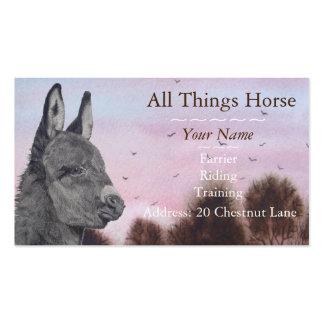 Animal bonito da arte da imagem do asno veterniary cartão de visita