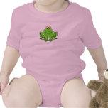 Animal bonito engraçado do sapo dos desenhos anima macacãozinho para bebê