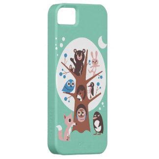 Animal bonito na árvore capa para iPhone 5