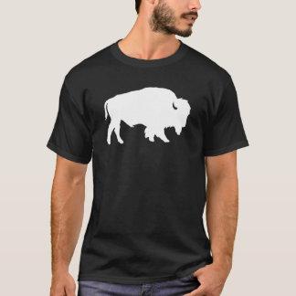 Animal branco da sombra da silhueta do búfalo camiseta