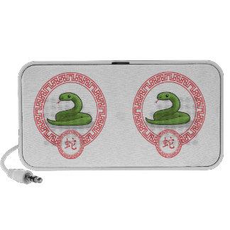 Animal chinês do zodíaco - cobra caixinhas de som de viagem