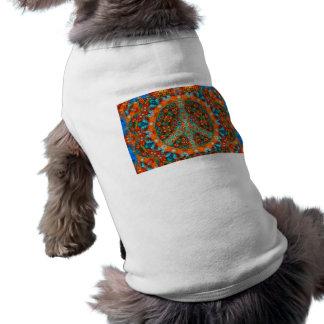 Animal de estimação-Camisa do Fractal da paz Roupa Pet