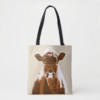 Animal de fazenda da vaca de Brown Bolsas Tote