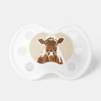 Animal de fazenda da vaca de Brown Chupeta