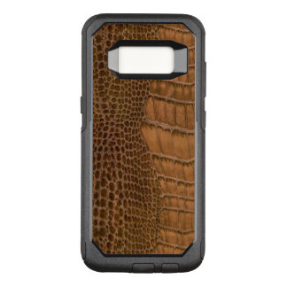 Animal de imitação do Vegan do falso do crocodilo Capa OtterBox Commuter Para Samsung Galaxy S8