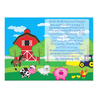 Animal do Barnyard - fazenda - convite - partido