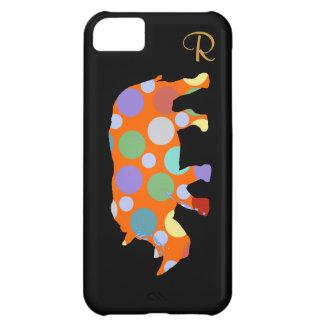animal do rinoceronte das bolinhas capa para iPhone 5C