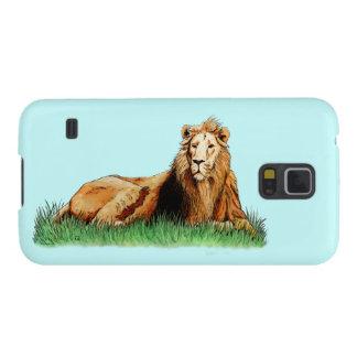 animal dourado do leão capas par galaxy s5