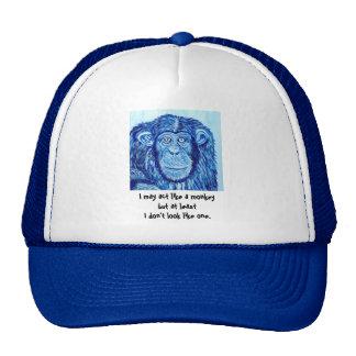 Animal engraçado do macaco azul do chimpanzé bone