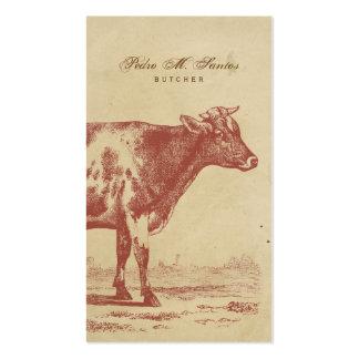 Animal legal simples rústico da vaca de leite do cartão de visita