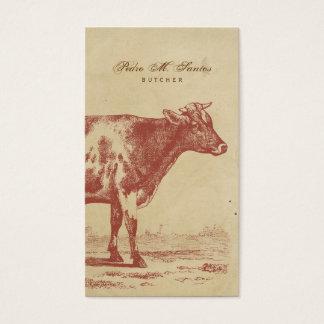 Animal legal simples rústico da vaca de leite do cartão de visitas