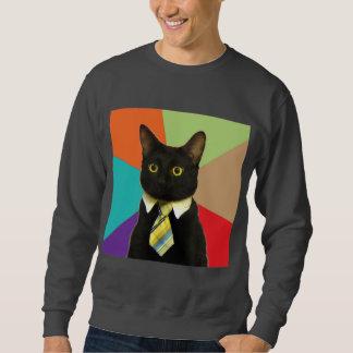 Animal Meme do conselho do gato do negócio Sueter