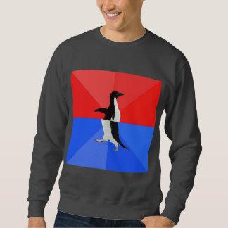 Animal social confuso Meme do conselho do pinguim Moletom