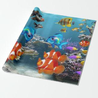 Animal subaquático de Sealife dos peixes Papel De Presente