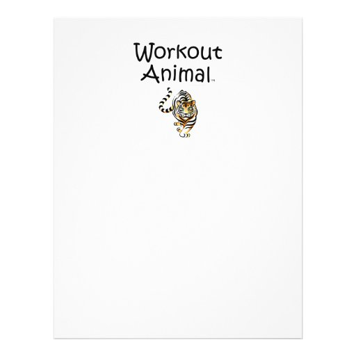 Animal SUPERIOR do exercício Panfleto Coloridos