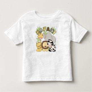 animal t da selva do safari para crianças tshirt