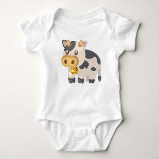 Animal-Vaca da fazenda Body Para Bebê