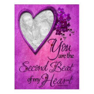 Aniversário - ?a batida de meu coração cartão postal