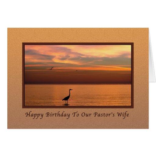 Aniversário, a esposa do pastor, vista para o mar  cartão