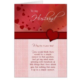 Aniversário - a meu marido cartão comemorativo