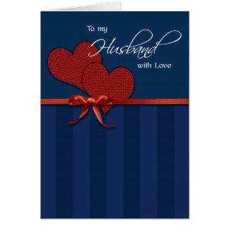 Aniversário - a meu marido w/love cartão comemorativo