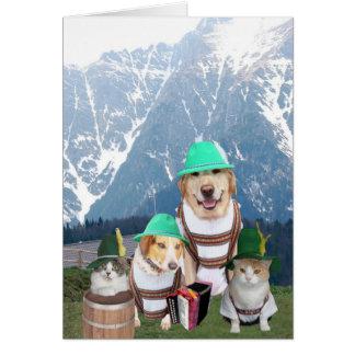 Aniversário alemão customizável para qualquer um d cartão comemorativo