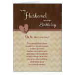Aniversário ao marido - por que faça eu te amo? cartão