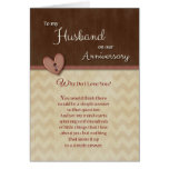 Aniversário ao marido - por que faça eu te amo? cartão comemorativo