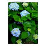 Aniversário azul do cristão do Hydrangea Cartão