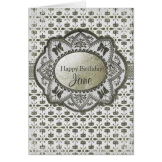 Aniversário barroco do vintage cartão comemorativo