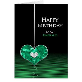 Aniversário - Birthstone - possa - esmeralda Cartão Comemorativo