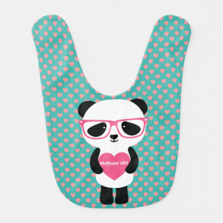 Aniversário bonito da panda babador